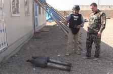 DEAŞ'a ait kimyasal başlıklı havan mermileri görüntülendi