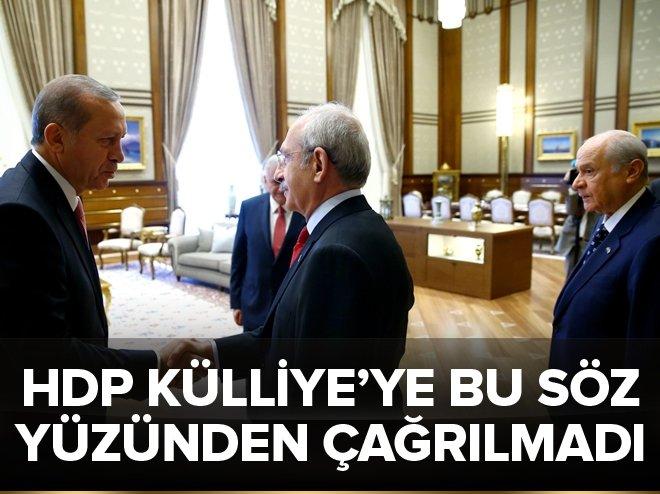 HDP Külliye'ye bu yüzden çağrılmadı