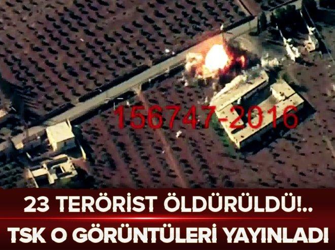 TSK 23 teröristin öldürüldüğü operasyonun görüntülerini yayınladı!