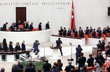 TBMM'de Cumhurbaşkanı Erdoğan'a saygısızlık