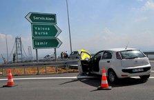 Osman Gazi Köprüsü'nde ilk kaza!