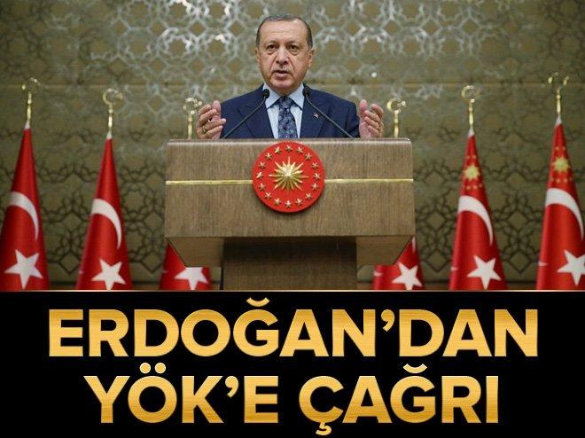 Cumhurbaşkanı Erdoğan'dan YÖK'e yardımcı doçentlik çağrısı