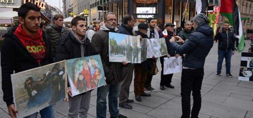 AVUSTURYA'DA İSRAİL'İN GAZZE ABLUKASINA PROTESTO