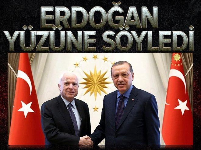 Erdoğan'dan McCain'e: Gülen'i iade edin