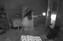 Cesur kadın hırsızları evine girdiğine pişman etti