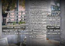 'Her nefis mutlaka ölümü tadacak…'