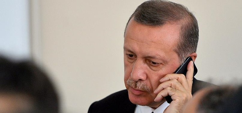 CUMHURBAŞKANI ERDOĞAN'DAN MERKEL'E TAZİYE TELEFONU