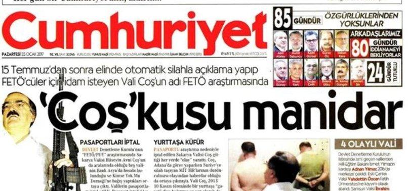 CUMHURİYET'TEN YİNE YALAN HABER