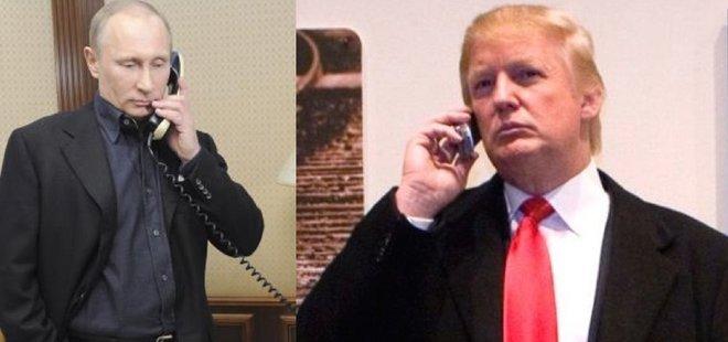 PUTİN VE TRUMP TELEFONDA GÖRÜŞTÜ