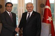 Başbakan Yıldırım ile Pakistan Meclis Başkanı Sadık görüştü