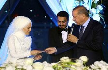 Erdoğan nikaha katıldı