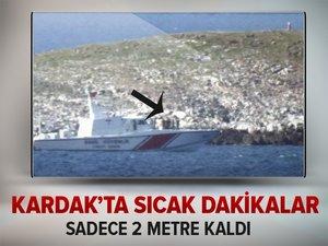 Türk askerinden Kardak'ta yakın inceleme