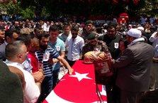 Şehit polis Dündar'ı, son yolculuğuna 15 bin kişi uğurladı