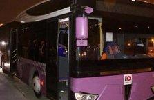 Okmeydanı'nda otobüse molotoflu saldırı!