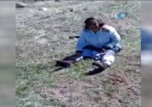 15 köpeğin saldırısına uğrayan kadın o anları anlattı