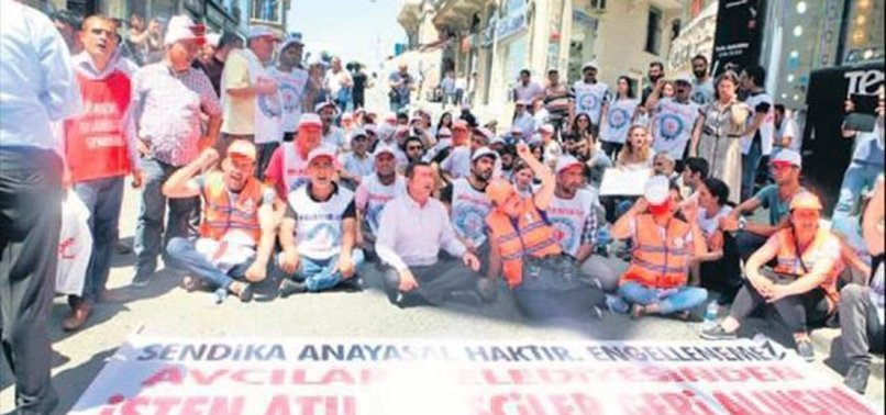 İŞÇİLER CHP'NİN KAPISINA DAYANDI