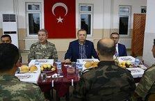 Erdoğan Şırnak'ta askerler ile iftar yaptı