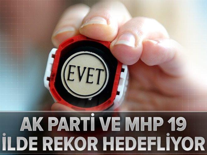 AK Parti ve MHP 19 ilde rekor hedefliyor
