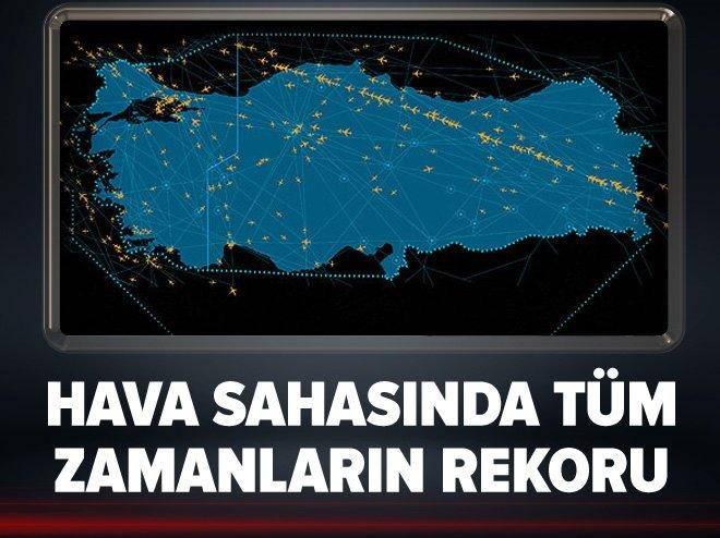 Türk hava sahasında tüm zamanların rekoru