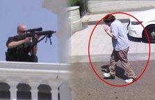 Eli silahlı şüpheli Beyaz Saray'a girerken vuruldu