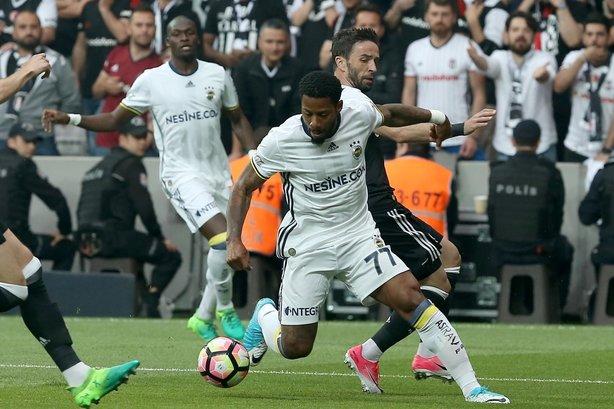 Beşiktaş-Fenerbahçe mücadelesinden kareler