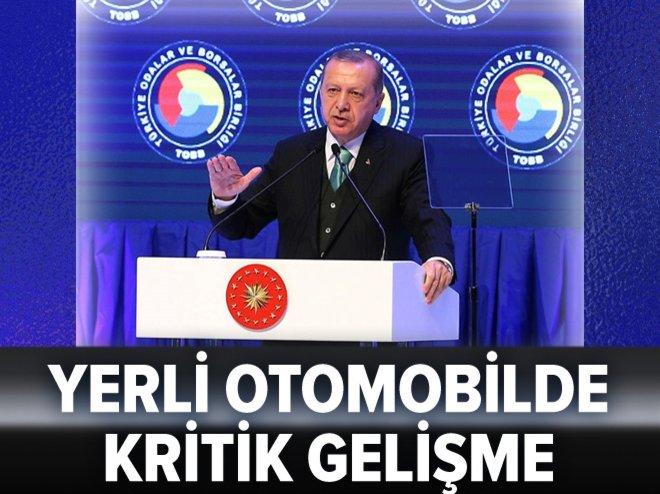 Erdoğan'dan yüzde yüz yerli otomobil için önemli adım