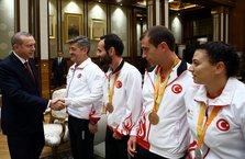 Erdoğan, Rio 2016 Paralimpik Olimpiyatları'nda madalya alan sporcuları kabul etti