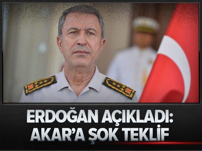 Erdoğan açıkladı: Darbecilerden Akar'a şok teklif